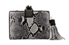 Rossoyuki Animal Texture Grey Box Clutch image