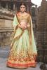 Variation Green Silk Bridal Lehenga Choli image