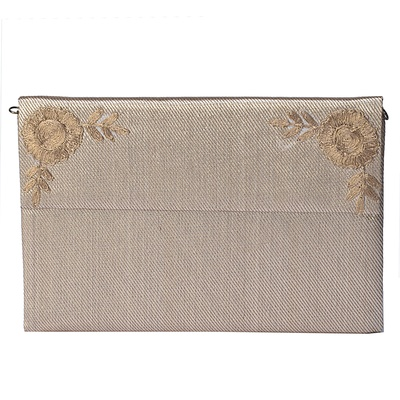 Tarusa Golden Brocade Clutch