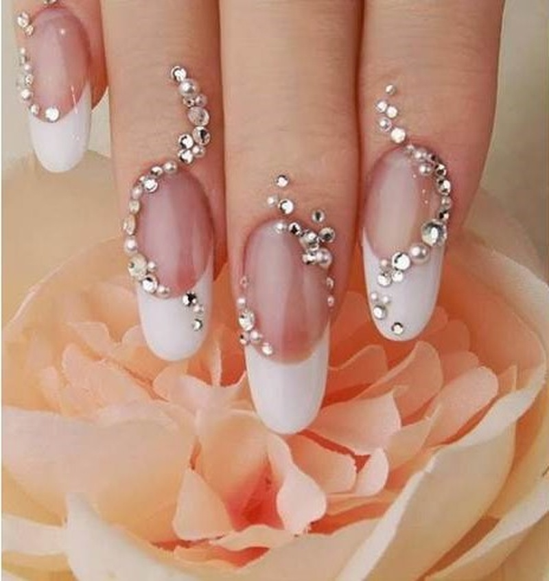50 Stunning Bridal Nail Art Designs to Rock at Your Wedding!