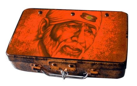 Fluke Design Company Sai Baba Handpainted Keepsake Box