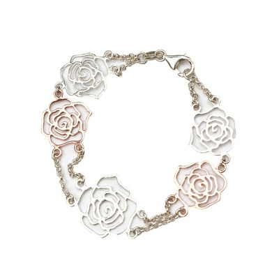 LeCalla Italian Rose Laser Cut Bracelet