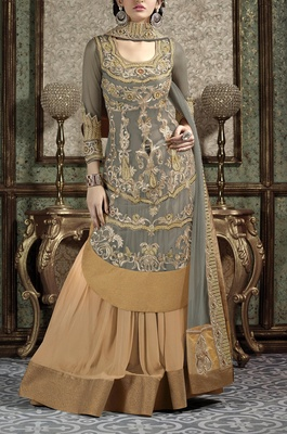 Viva N Diva grey colored Lehenga
