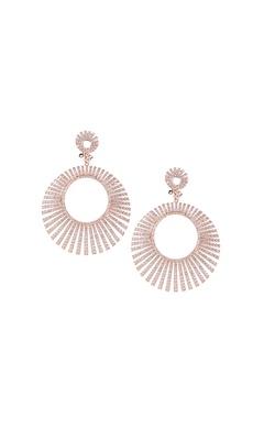 Circular Rose Gold Earrings