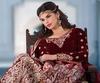 Variation Cream Net Bridal Lehenga Choli image