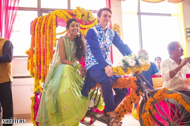 Inter Cultural, Colourful Wedding Held at Crowne Plaza, Delhi