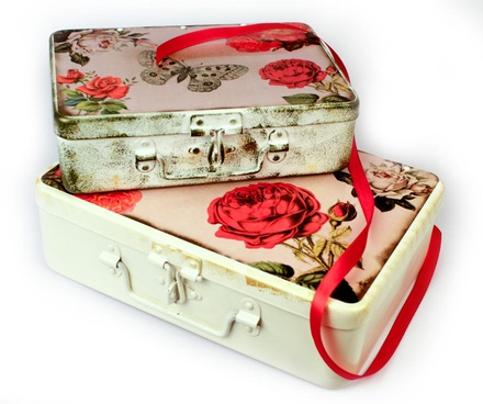Fluke Design Company Rose Hand Painted Jewellery Box