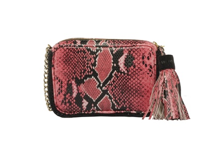 Rossoyuki Red Animal Texture Pouch Clutch