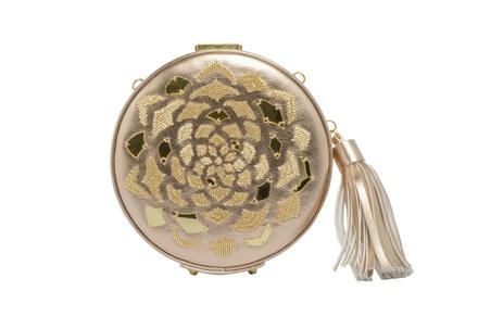 Rossoyuki  Golden Round Clutch