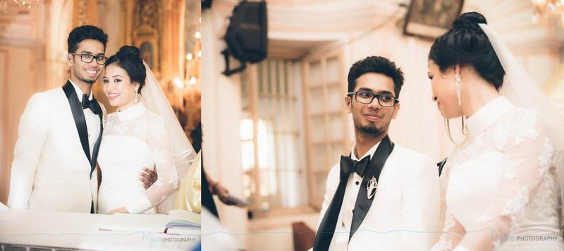 Arlene and Claude's Black & White Themed Contemporary Catholic Wedding and Reception at Holiday Inn, Goa