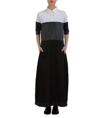 Black and White Pop Shirt Dress