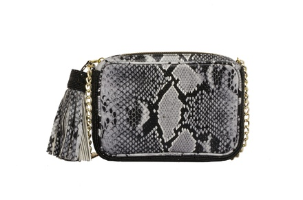Rossoyuki Grey Animal Texture Pouch Clutch