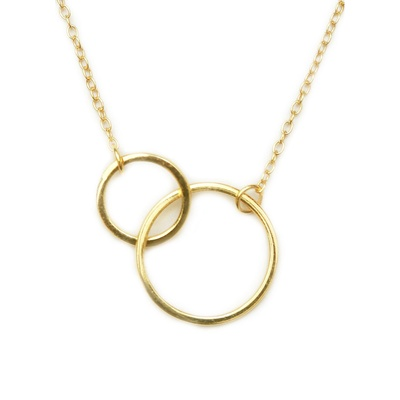LeCalla Circle in Circle Gold Plated Necklace