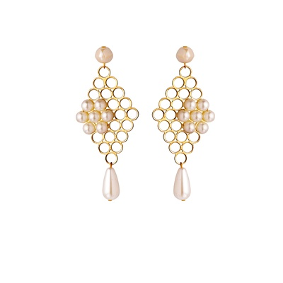 Gold Jaali Earrings