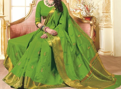 Saree Exotica Green Silk Saree