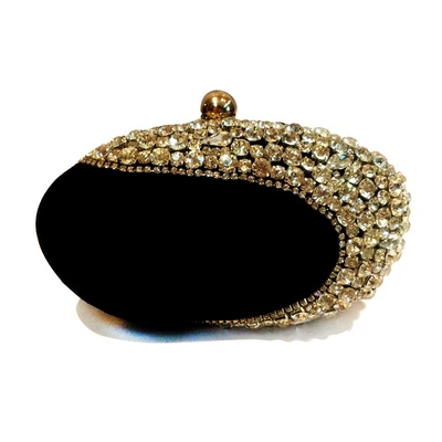 Niche Crystal oval Minaudière Clutch