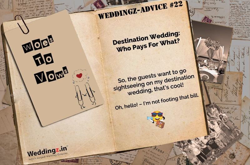 Destination Wedding: Should you pay for your guests' non-wedding activities? – Wedding Advice #22