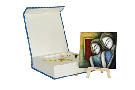 Artflute-Divine Love story Painting With Gift Box