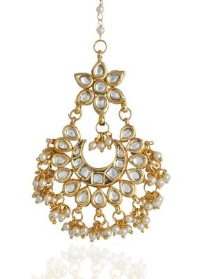 Imli Street Kundan Mang Tika With Pearl Beads