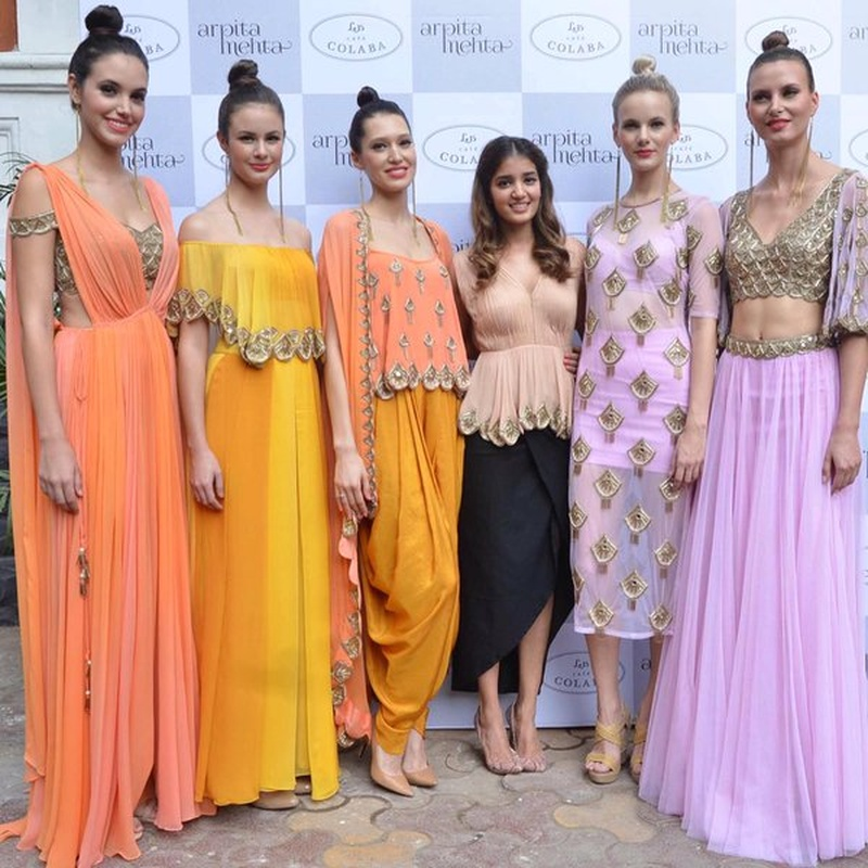 Pastels and Gold - Mehndi Outfit Inspiration by Arpita Mehta