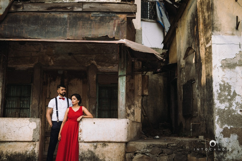 Ankita and Vikrant's Unique Pre-Wedding Shoot in the Streets of Bombay!