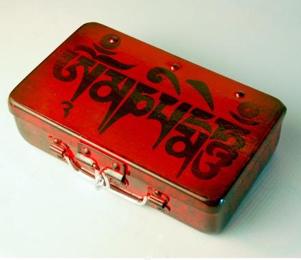Fluke Design Company Red Handpainted Jewelry Box