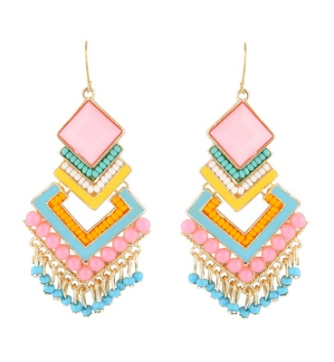 beatnik beaded pastel danglers