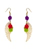 Multicolor floral Earrings image