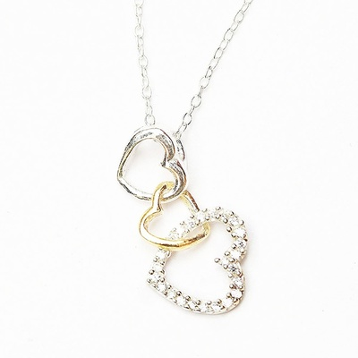 LeCalla Hearts in Heart Trendy Necklace