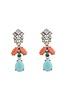 Nizanta Turquoise & Peach Drop Earrings image