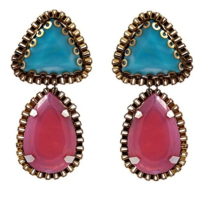 Opaque Crystal Statement Earrings