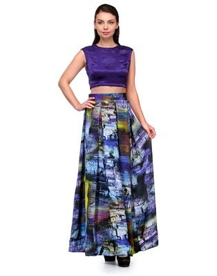 Anjana Misra Crop Top  with Printed  Skirt