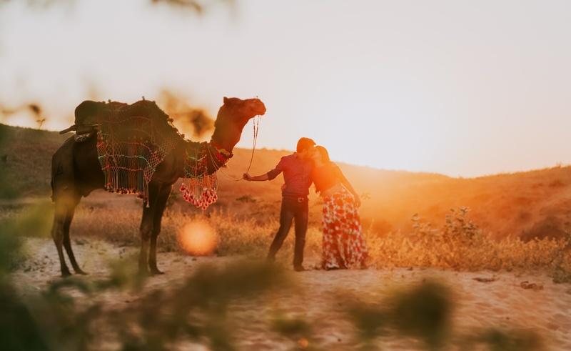 Pre-Wedding Shoot in Pushkar, Rajasthan with a Magical Desert Charm
