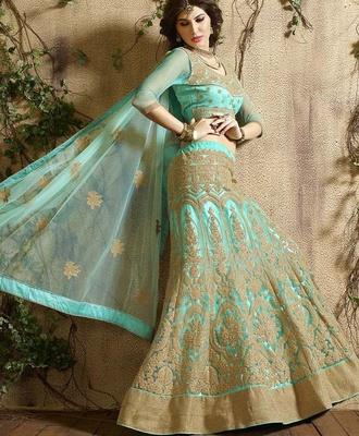 Variation Blue Georgette Designer Ghaghra Choli