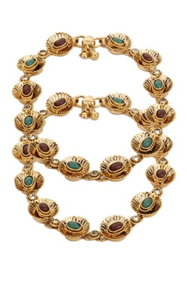 Dilan Jewels Gold Plated Kundan Drops Anklets