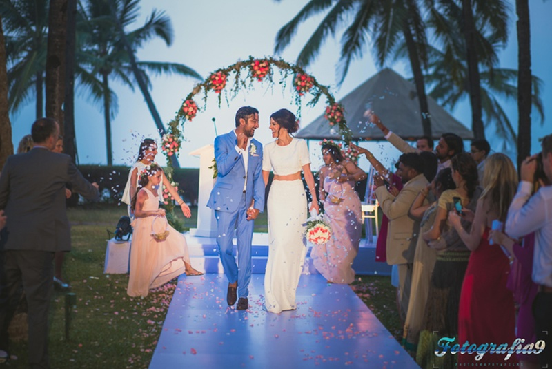 Neil and Jessica's Minimalistic Wedding held at The Leela, Goa