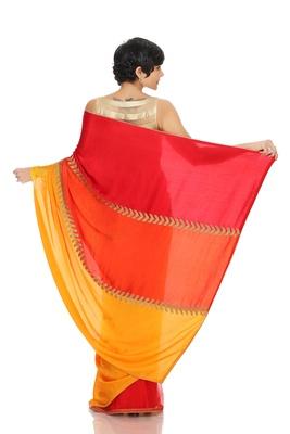 Tri-Color Saree