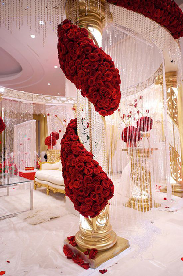 Red White And Gold Wedding Ideas: Trending red white and gold ...