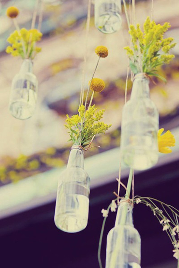 The biggest trends in diy mehndi decoration ideas we 39 ve for Glass bottle centerpieces weddings