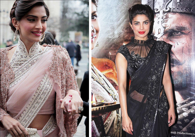 12 Times Bollywood Celebrities Proved That High-Neck Blouses Are Sexy Too