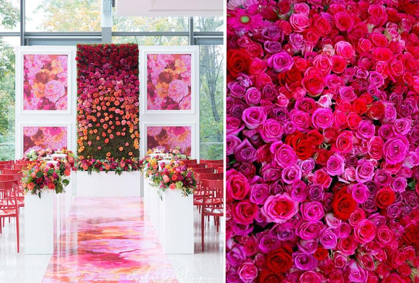 Fabulous Flower Walls Trending in Wedding Decor