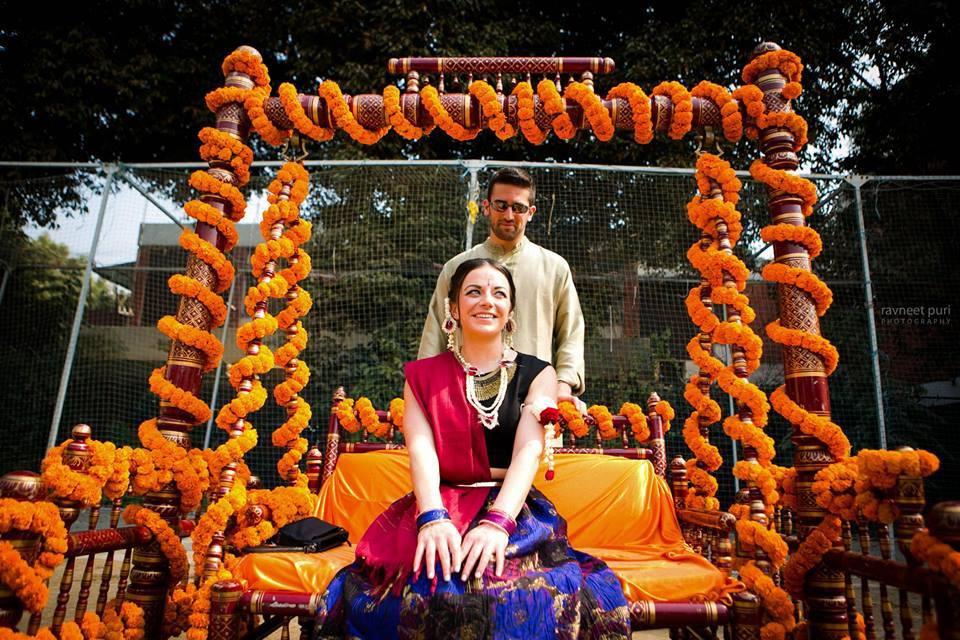 Indo-Western Cross-Cultural Wedding Held at Grand Vasant Kunj, Delhi