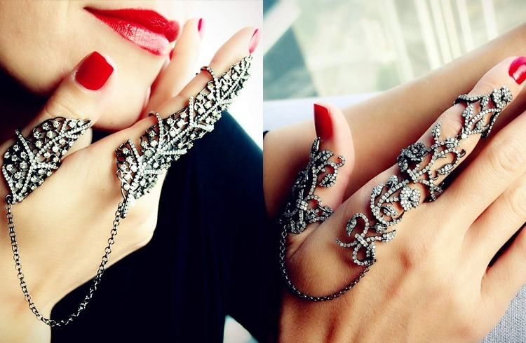 Long Finger Rings for Stylish Indian Brides