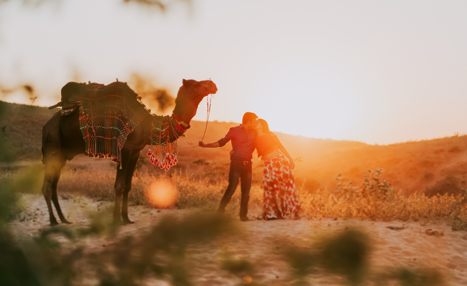Pre-Wedding Shoot in Pushkar, Rajasthan with a Magical Desert Charm