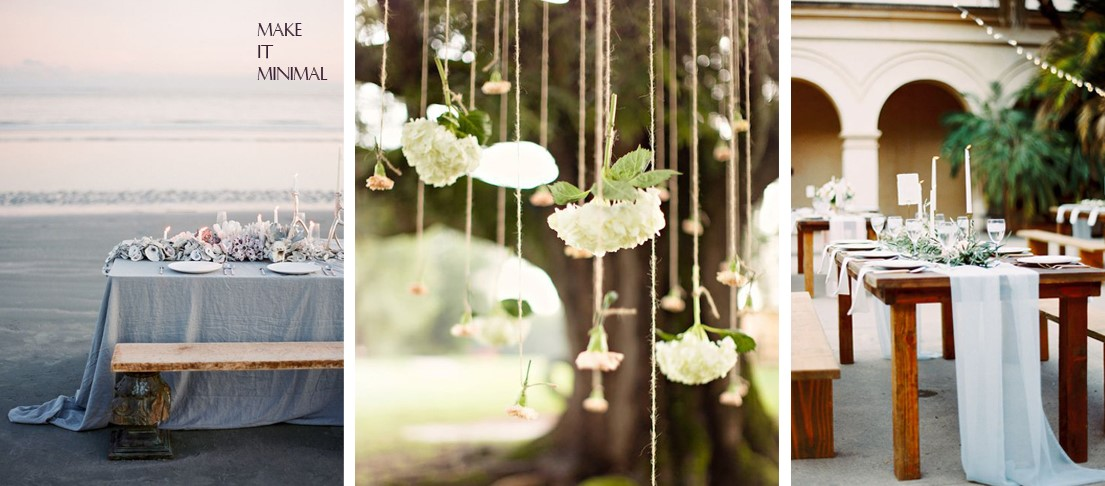 Simple and Classic Minimalistic Wedding Decoration Ideas, Fashion and More