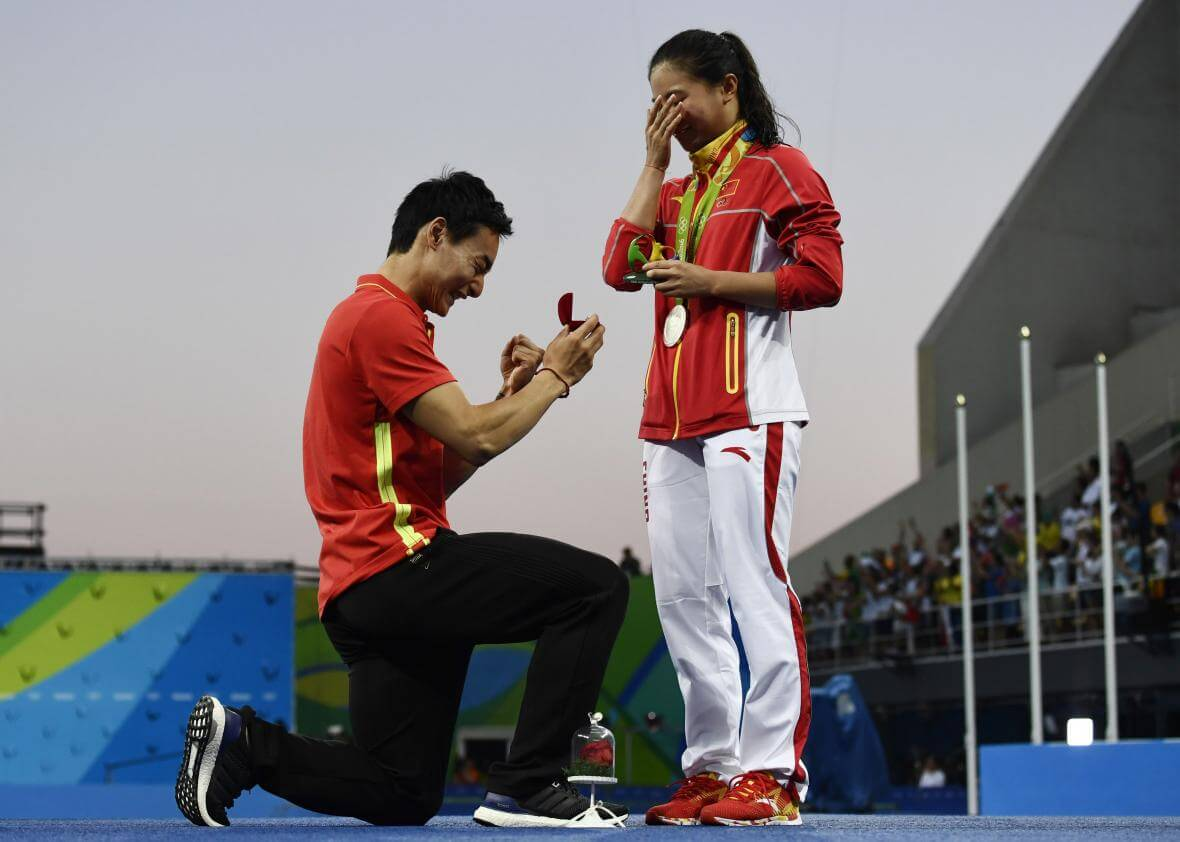 Winning Marriage Proposals That Made Us Go Weak In The Knees At Rio Olympics 2016!