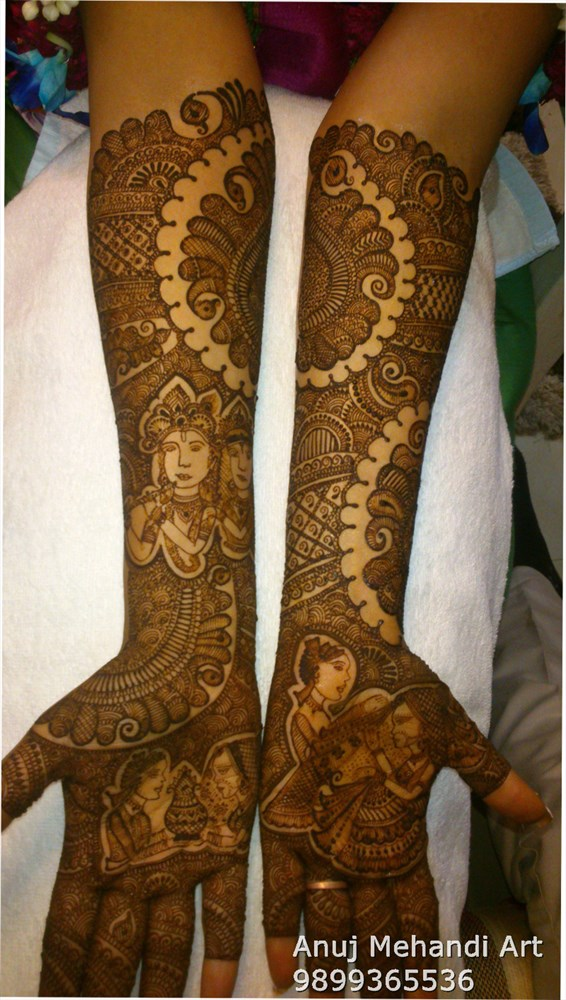 Bridal Mehndi Artist In Surat : Anuj mehndi art bridal artist in delhi weddingz