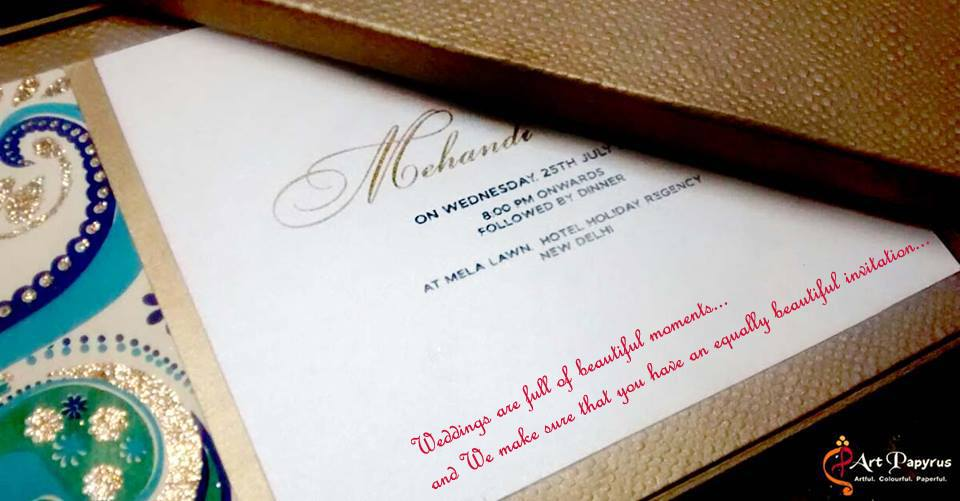 Wedding Invitation Cards Designs With Price In Delhi : Art Papyrus, Wedding Invitation Card in Delhi WeddingZ