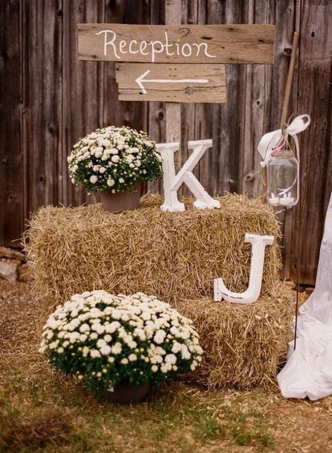 Beautiful Wedding Initials Decoration