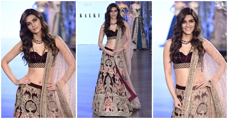 Kriti Sanon Plays Showstopper For Kalki's New Bridal Collection At Bombay Times Fashion Week 2017